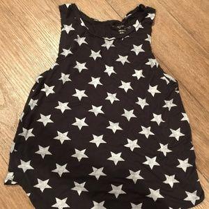 Grayson / Thread Tank Top Black w/ White Stars